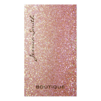 Professional glamorous elegant glittery Double-Sided standard business cards (Pack of 100)