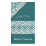Professional glamorous elegant lace pearls business card