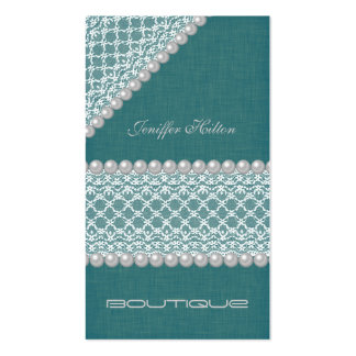 Professional glamorous elegant lace pearls Double-Sided standard business cards (Pack of 100)