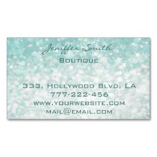 Professional glamorous elegant modern plain bokeh magnetic business card