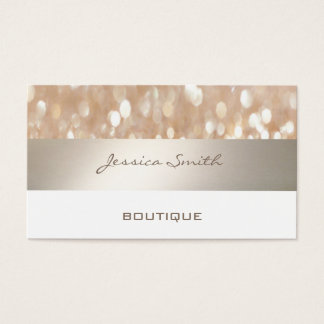Professional glamorous modern elegant bokeh business card