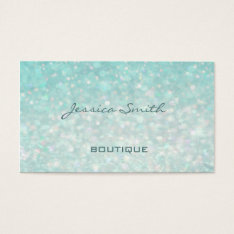 Professional Glamorous Modern Elegant Plain Bokeh Business Card at Zazzle
