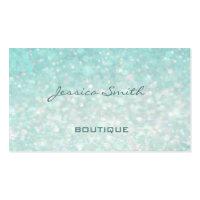 Professional glamorous modern elegant plain bokeh Double-Sided standard business cards (Pack of 100)