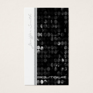Professional glamorous modern sequins business card