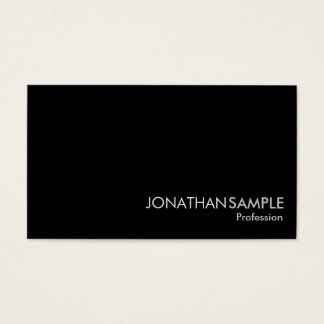 Professional Glamorous Plain Black White Grey Luxe Business Card