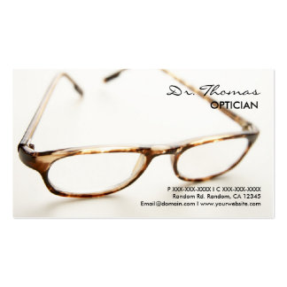 Professional glasses Optician business cards