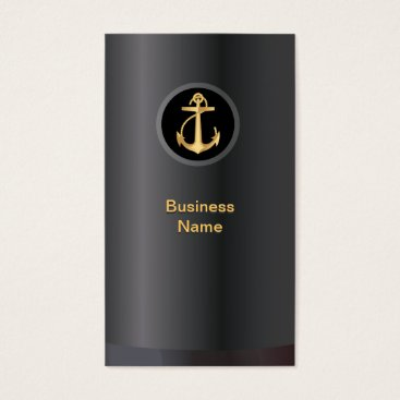 Lawyer Themed Professional Gold Anchor Business Card