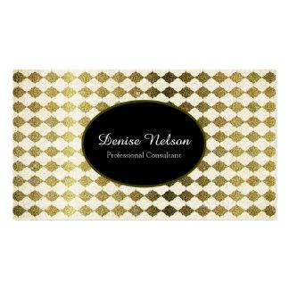 Professional Gold Glitter Quarterfoil Business Card