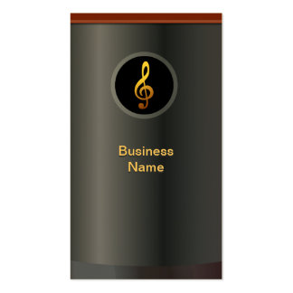 Professional Gold Music Symbol Business Card