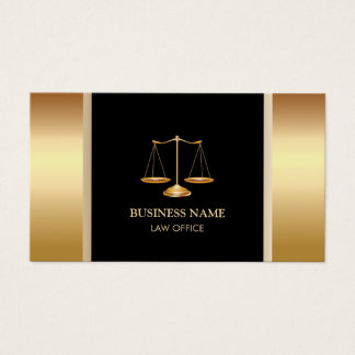 Professional Gold Scale Attorney & Lawyer Business Card