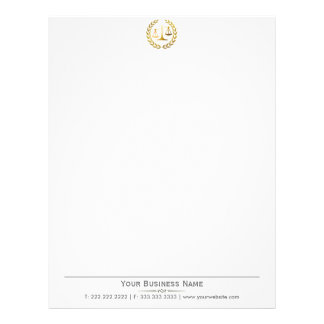 Professional Gold Scale Lawyer/Attorney Letterhead