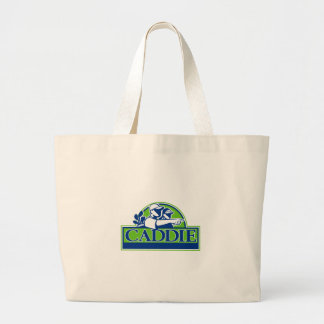 Professional Golfer and Caddie Retro Large Tote Bag