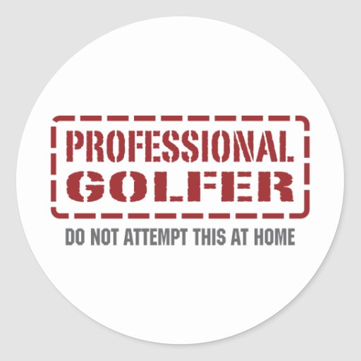 Professional Golfer Stickers
