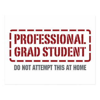 Professional Grad Student Postcard
