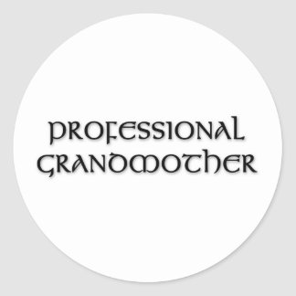 Professional Grandmother 1 Classic Round Sticker