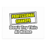 Professional Grandpa...Don't Try This At Home Postcards