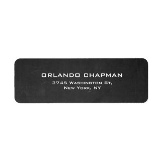 Professional Gray Chalkboard Simple Plain Elegant Label