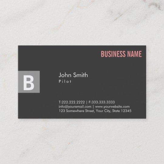 professional gray pilotaviator business card - Aviator Business Card