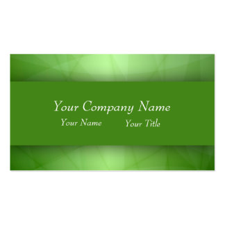 Professional Green Double-Sided Standard Business Cards (Pack Of 100)