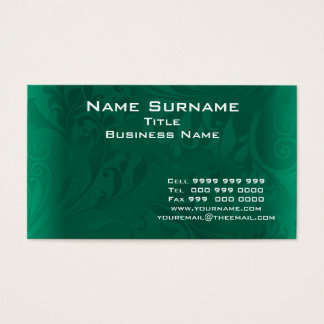 Professional Green Business Card