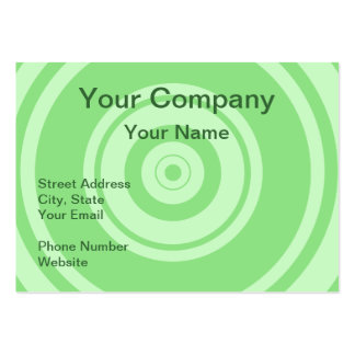 Professional green circle business cards