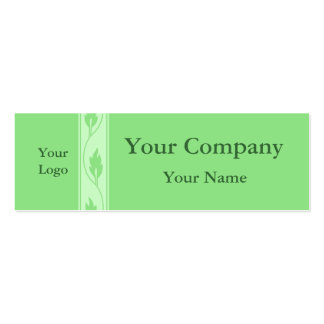 Professional green leaf business cards