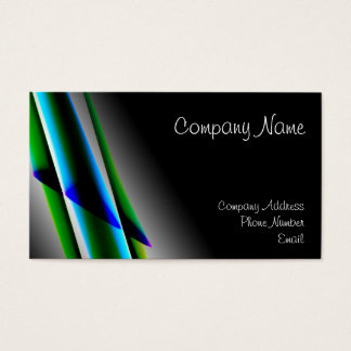 Professional Green Lines Business Cards