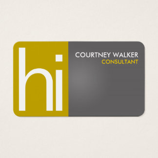 Professional greeting gold business cards