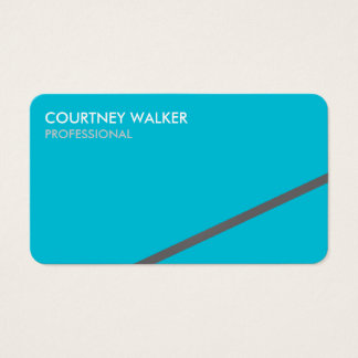 Professional greeting turquoise business cards