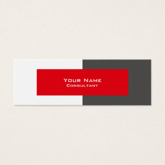 Professional Grey and Red Business Card Template
