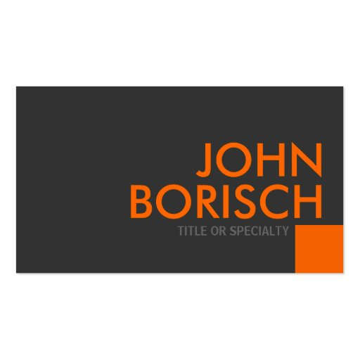 Professional Grey Orange Business Profile Card Double-sided Standard Business Cards (pack Of 100)