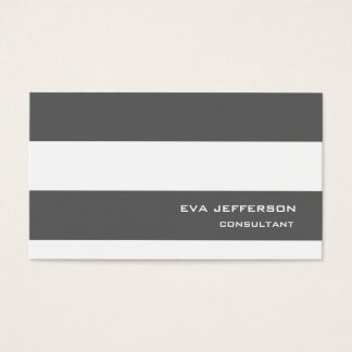 Professional Grey White Stripes Trendy Style Business Card