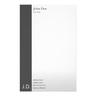 professional greys personalized stationery