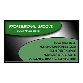 Professional Groove Green business cards