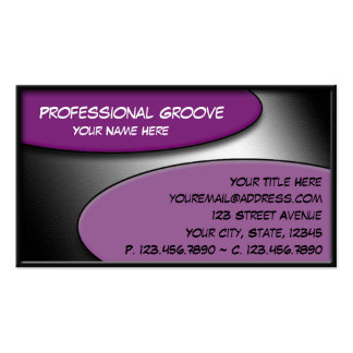 Professional Groove Purple business cards
