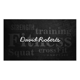 Professional Grunge Fitness Trainer Double-Sided Standard Business Cards (Pack Of 100)