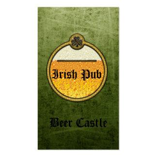 Professional grunge Irish Pub beer logo Business Card Templates