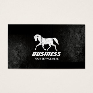 Professional Grunge Running Horse Business Cards
