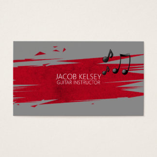 Professional Guitar Music Instructor, Lessons Business Card