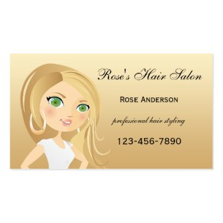 Professional Hair Salon Appointment Business Card
