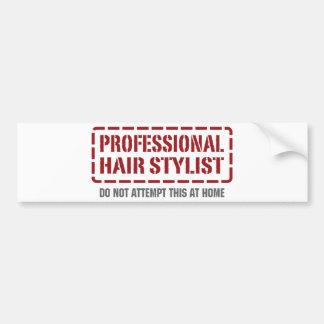 Professional Hair Stylist Bumper Sticker