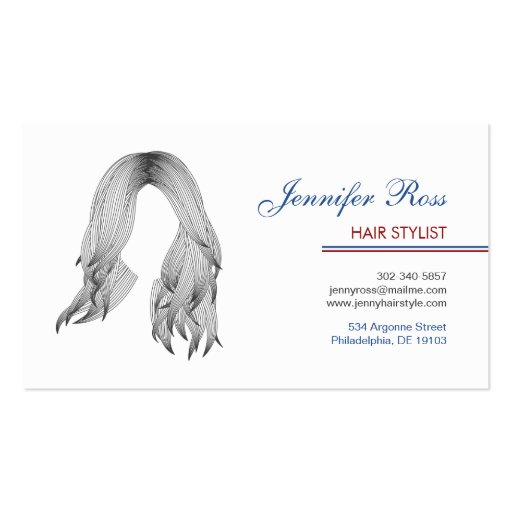 Professional Hair Stylist Business Card