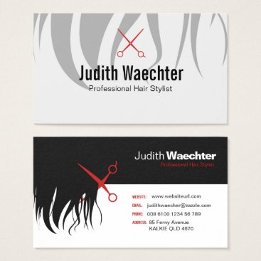Professional Business Professional Hair Stylist Business Card