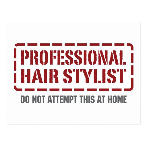 Professional Hair Stylist Postcards