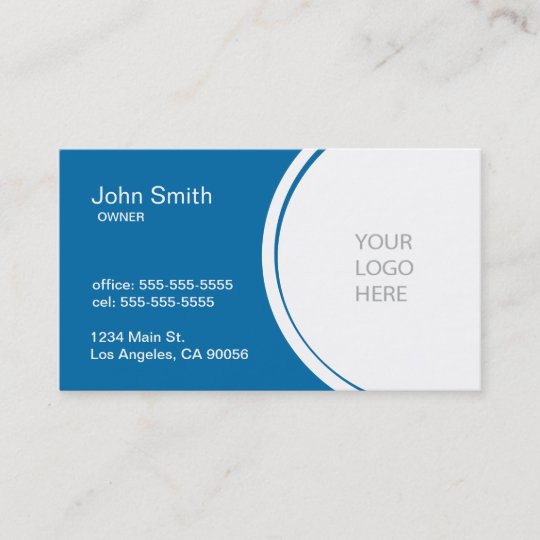 Professional Half Circle Blue Business Card Zazzle Com