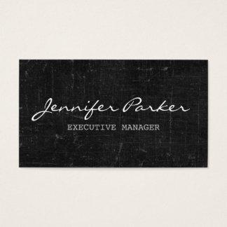 Professional Handwriting Grey Vintage Stylish Business Card