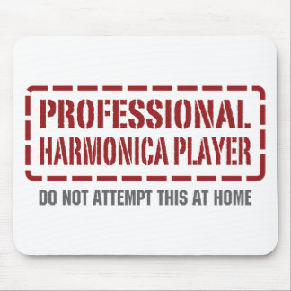 Professional Harmonica Player Mouse Pad