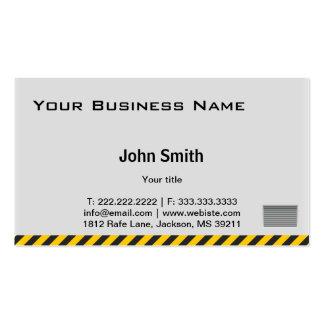 Professional Hazard Striped Wall business card