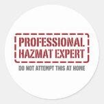 Professional Hazmat Expert Sticker