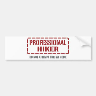 Professional Hiker Bumper Stickers